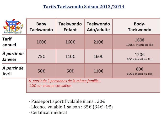 Tarifs-Taekwondo-Saison-2013