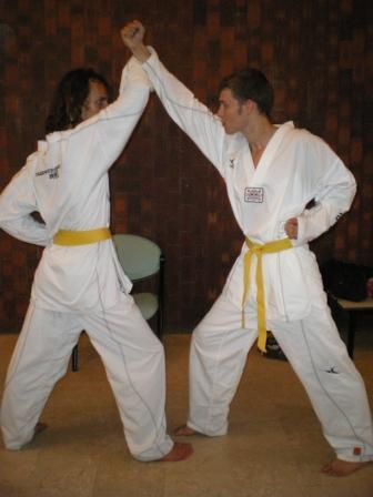 Rémi et Marco sur de la technique en kibon