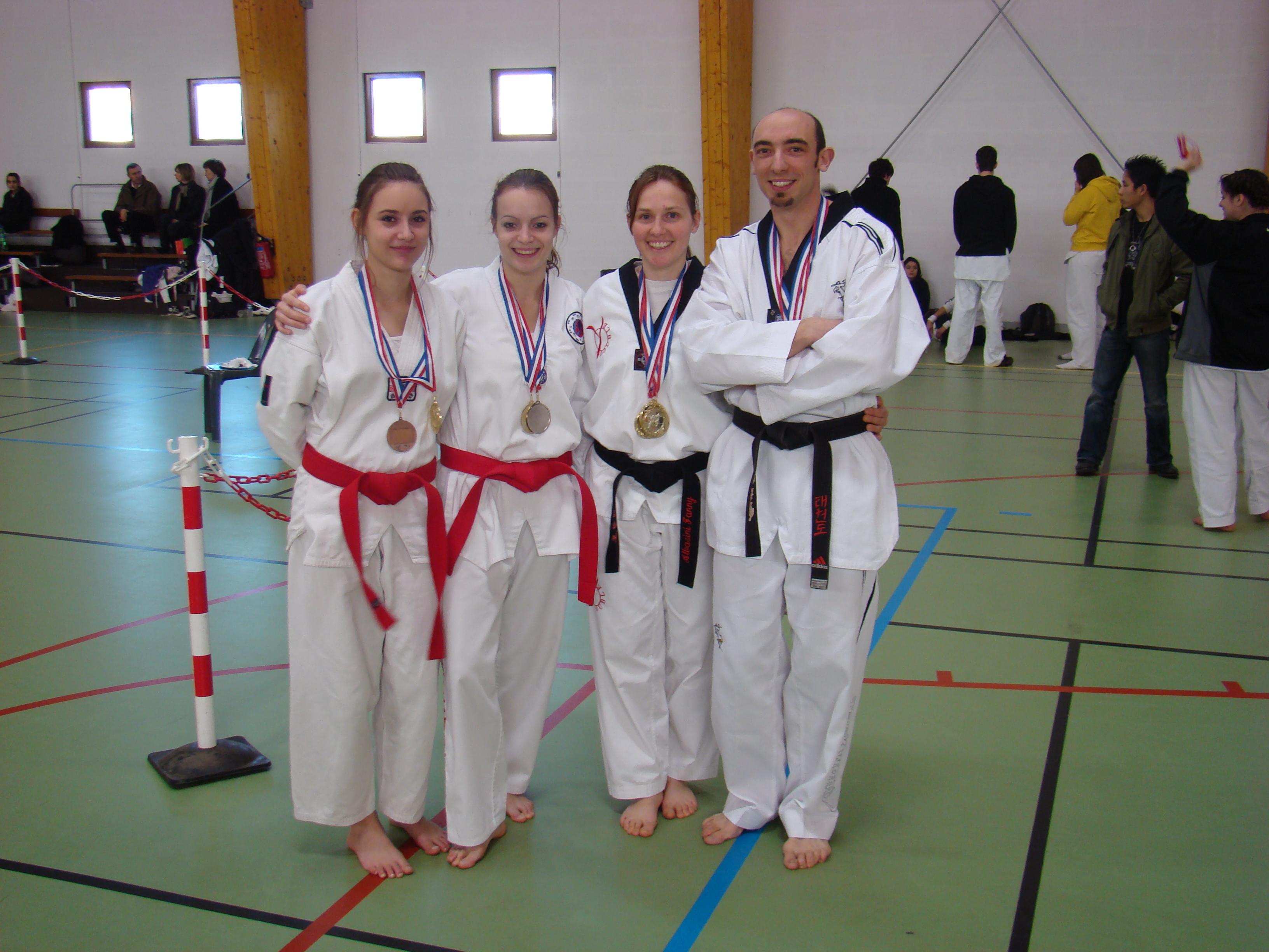 Les médaillés du championnat