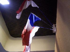 Drapeau français et monégasque