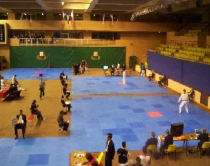 Aire de passage en taekwondo