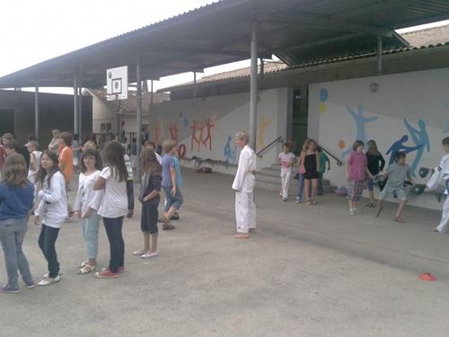 Le club de Taekwondo de Génissac et de Bouliac, ont vu, eux, des élèves très attentifs !
