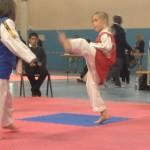 Julie dans l'action de l'un de ses combats