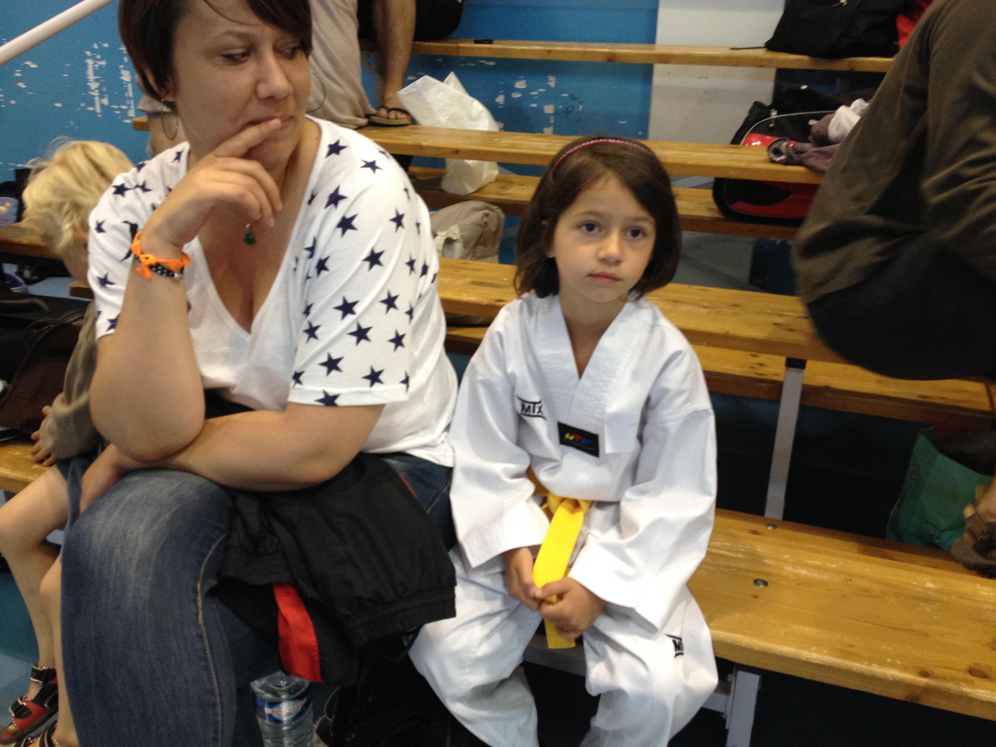 Compétition Taekwondo initiation enfants Aquitaine-Gironde 2014