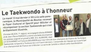 Le Taekwondo à l'honneur sur Bouliac - Bordeaux