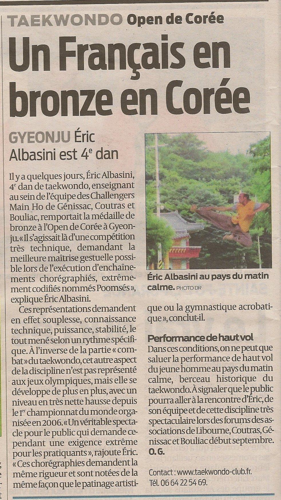 article-sud ouest-open gyeonju-eric albasini